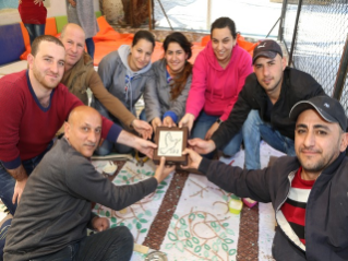A mosaic laboratory serving refugees in Jordan