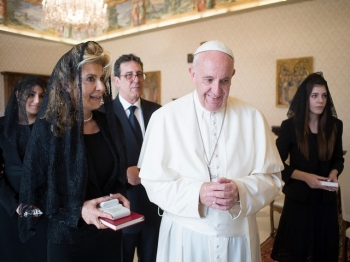 Ambassador Albertini and Pope Francis